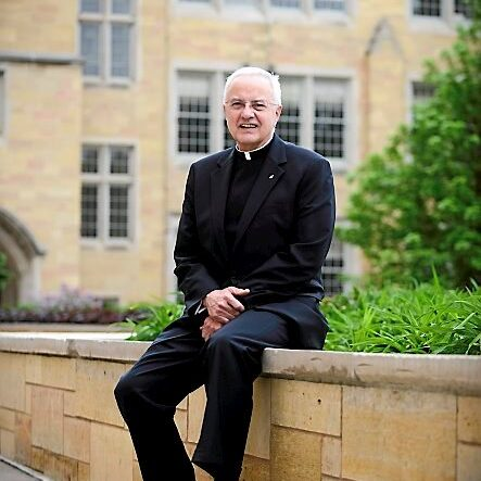 Father Dennis Dease, the state's longest-serving private school leader, is retiring this summer after 22 years at the helm of the University of St. Thomas. He is photographed June 7, 2013 on the St. Paul campus.  (Pioneer Press: Chris Polydoroff)